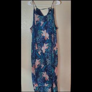 Old Navy XXL Floral Maxi Halter High Lo Dress